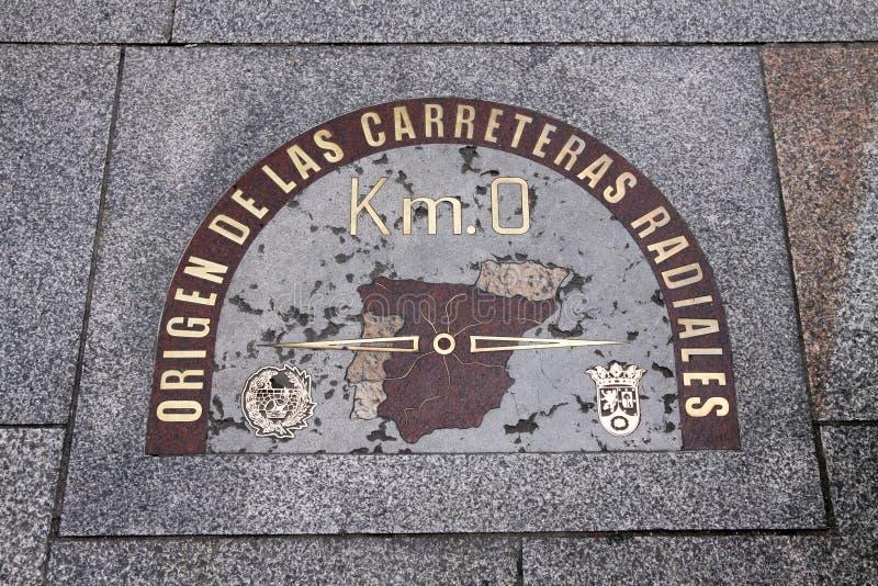 De stadscentrum van Madrid stock afbeelding