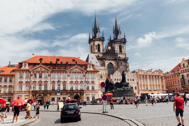 De stadscentrum van Praag stock fotografie