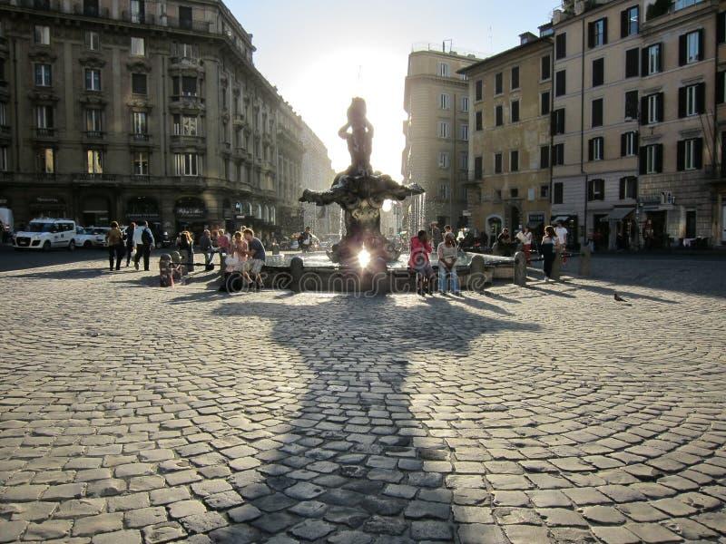 De stadscentrum van Rome royalty-vrije stock afbeeldingen
