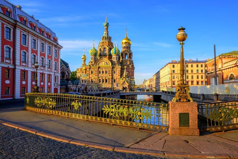 De stadscentrum van St. Petersburg, Rusland stock foto