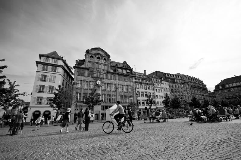 De stadscentrum van Strasborg royalty-vrije stock afbeeldingen