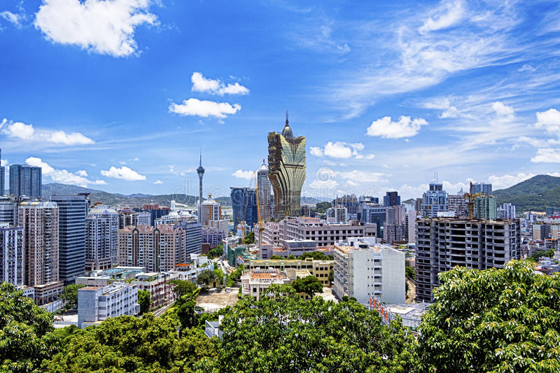 De stadsdag van Macao stock afbeeldingen