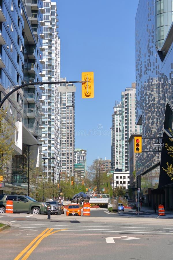 De de Stadsflats van de binnenstad van Vancouver stock foto's