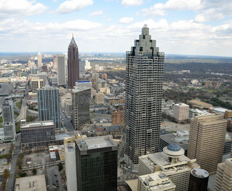 De stadshorizon van Atlanta royalty-vrije stock foto