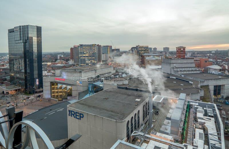 De Stadshorizon van Birmingham stock afbeeldingen
