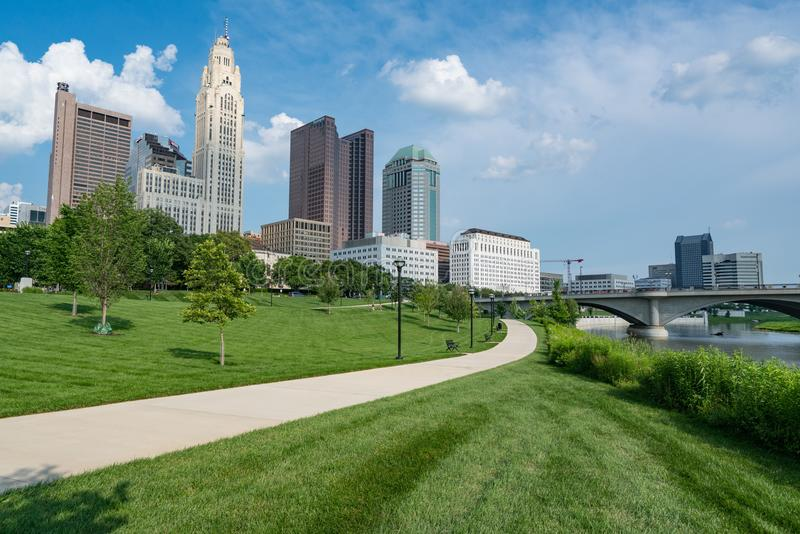 De Stadshorizon van Columbus, Ohio royalty-vrije stock foto's