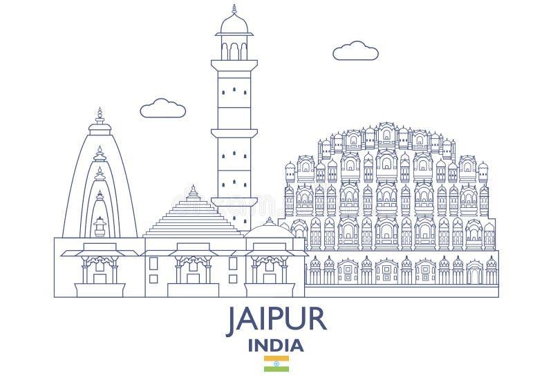 De Stadshorizon van Jaipur, India