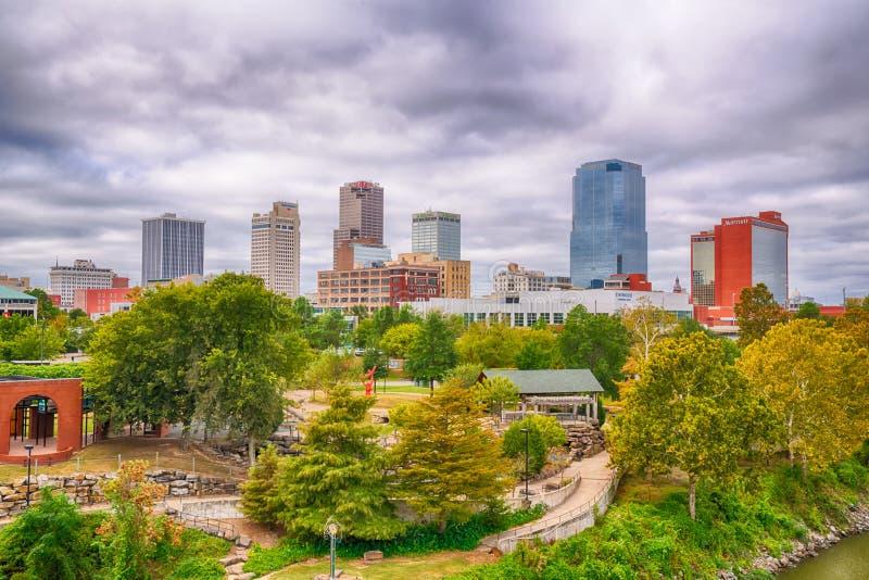 De Stadshorizon van Little Rock, Arkansas royalty-vrije stock afbeeldingen