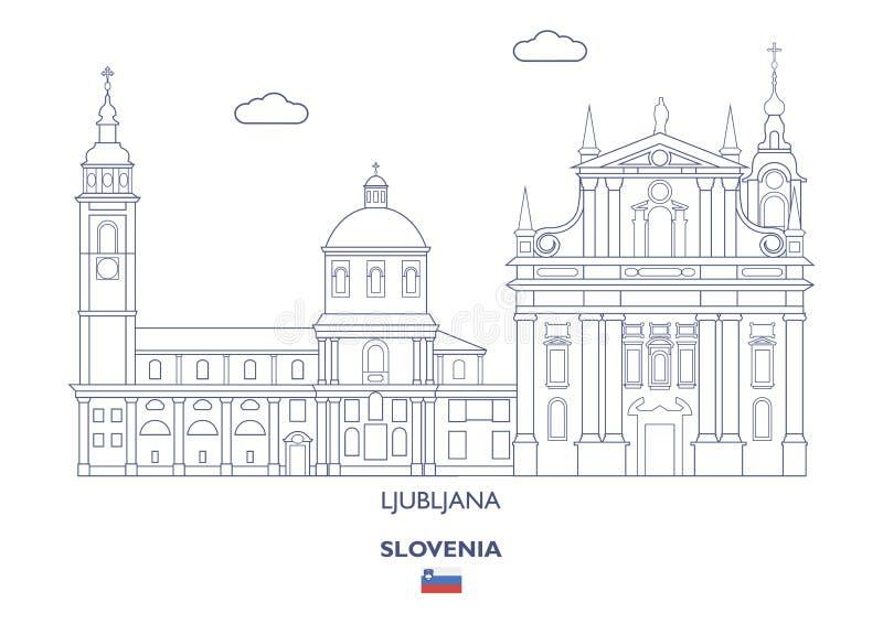 De Stadshorizon van Ljubljana, Slovenië