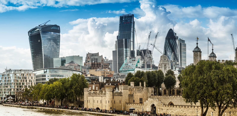 De stadsHorizon van Londen stock fotografie