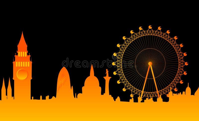 De stadsHorizon van Londen royalty-vrije illustratie