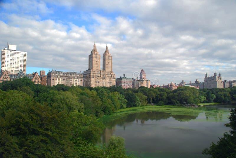 De Stadshorizon van New York boven Central Park royalty-vrije stock fotografie
