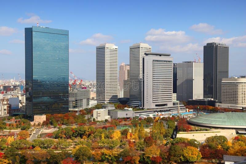 De stadshorizon van Osaka royalty-vrije stock afbeelding