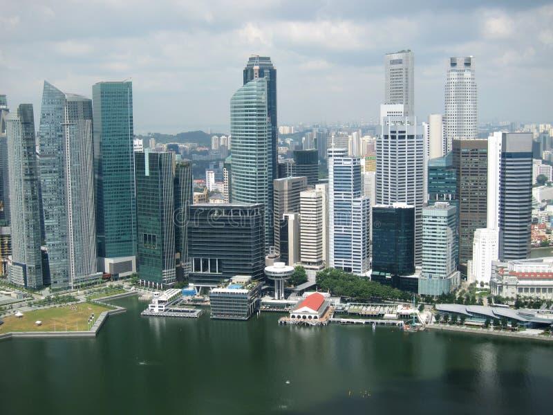 De stadshorizon van Singapore stock foto