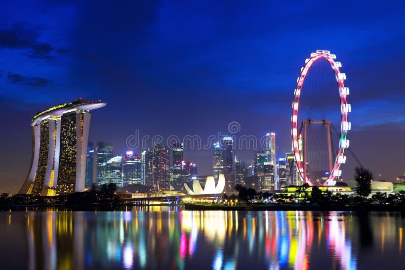 De stadshorizon van Singapore stock fotografie