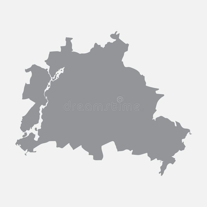 De stadskaart van Berlijn in grijs op een witte achtergrond vector illustratie