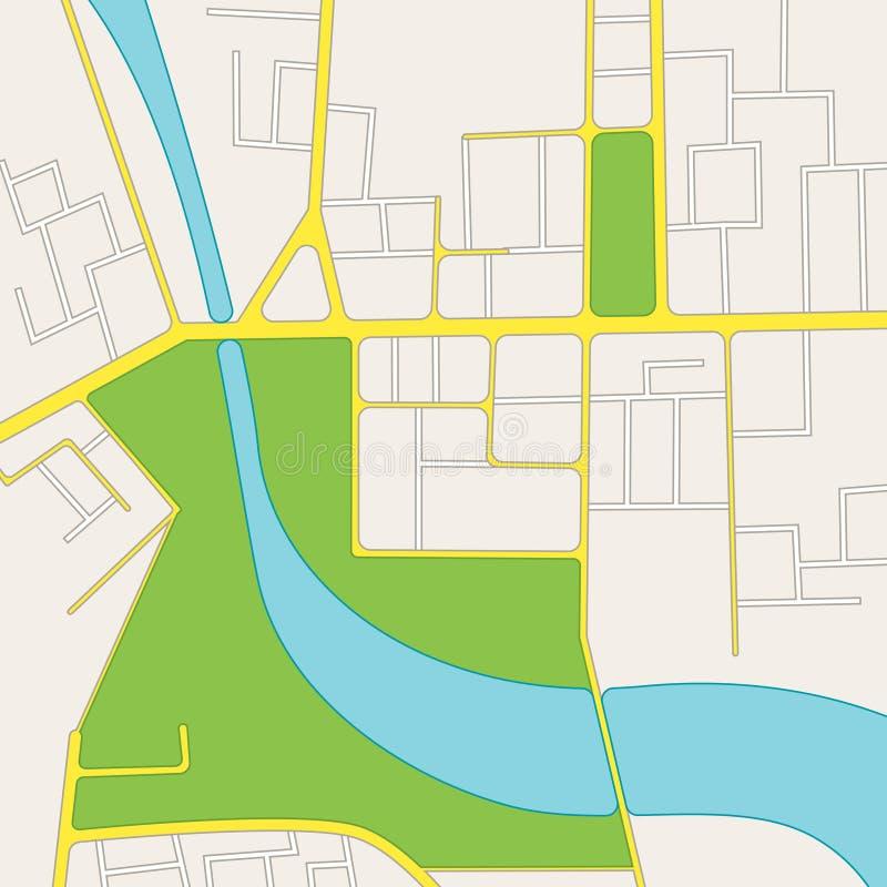 De Stadskaart van de beeldverhaalweg van District Vector vector illustratie