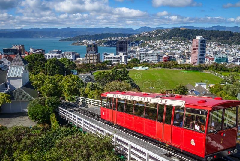 De stadskabelwagen van Wellington, Nieuw Zeeland royalty-vrije stock afbeelding