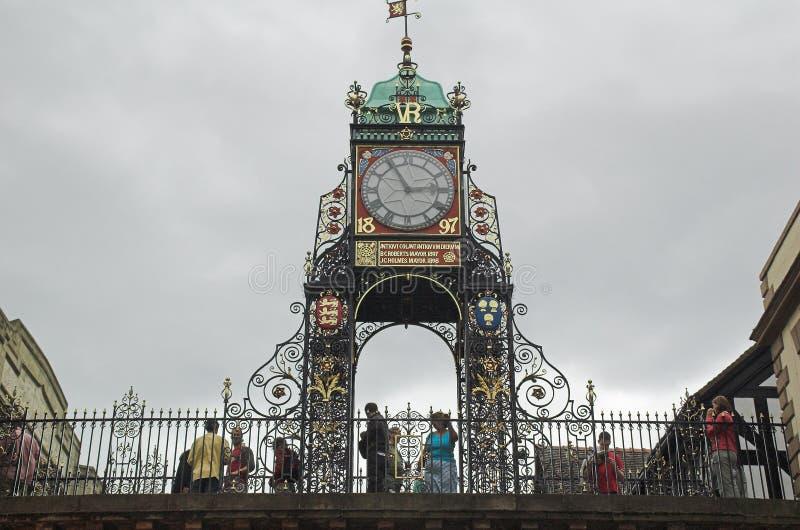 De stadsklok van Chester stock afbeelding