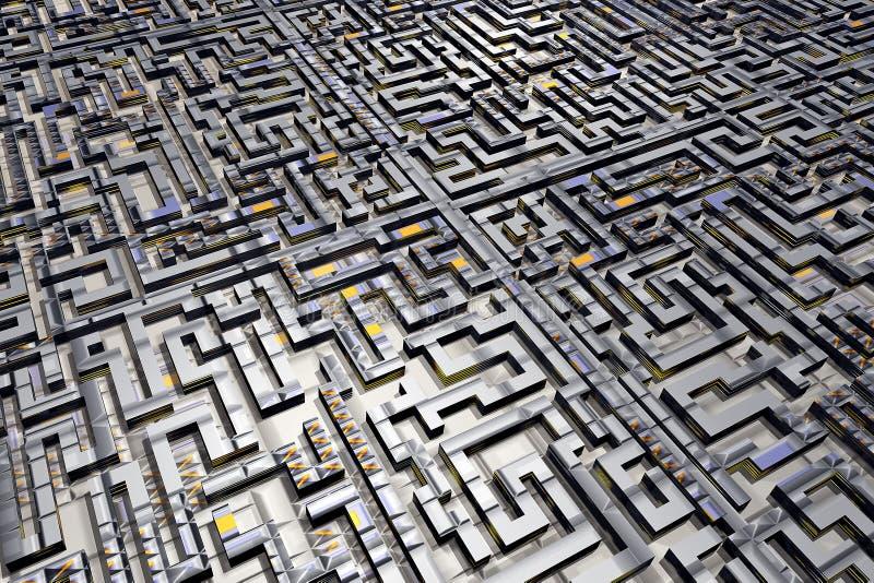 De stadslabyrint van het labyrint stock illustratie
