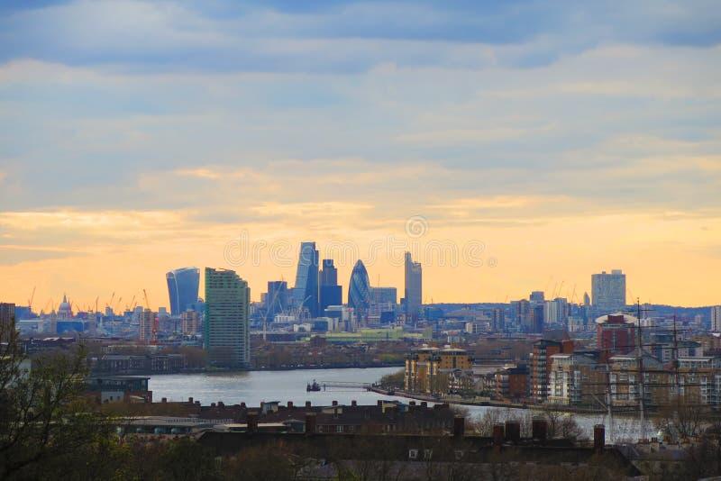 De stadslandschap van Londen stock foto's