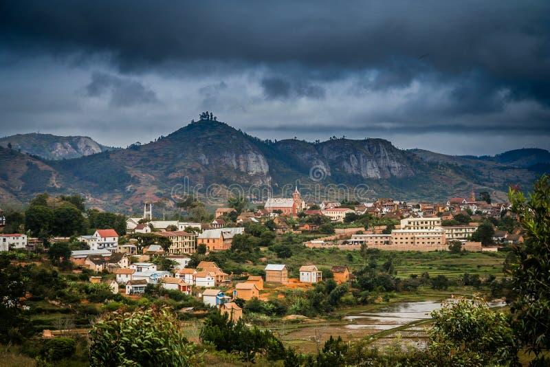 De stadslandschap van Madagascar stock afbeelding