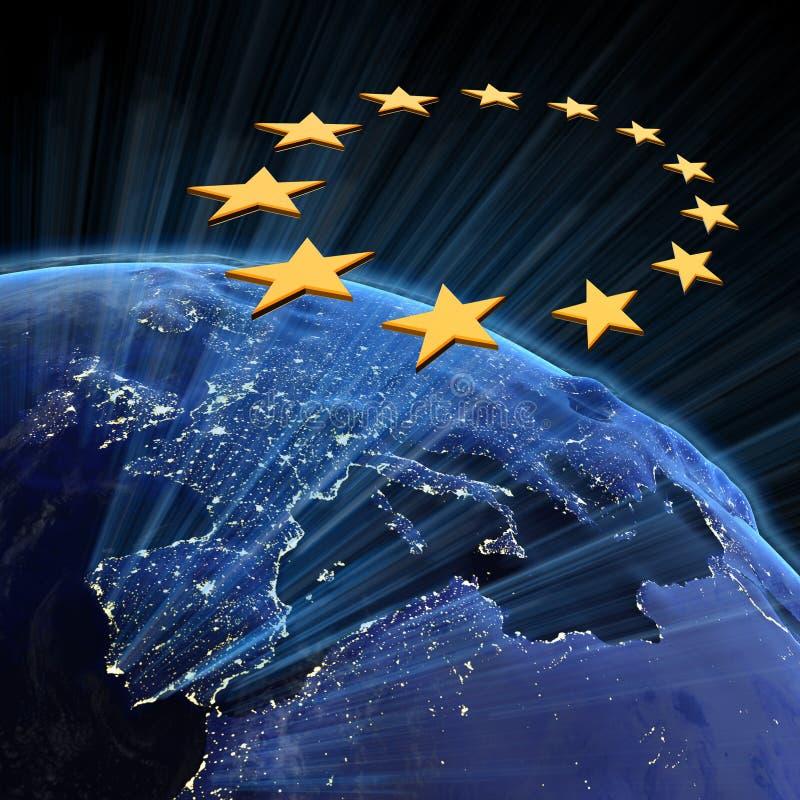 De stadslichten van de Europese Unie royalty-vrije illustratie