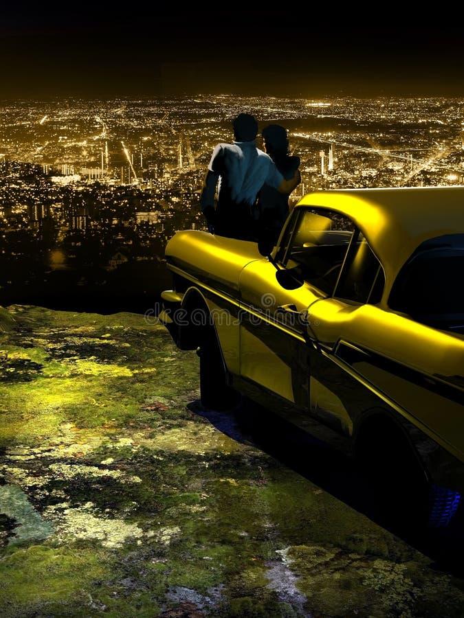 De stadslichten van de nacht vector illustratie
