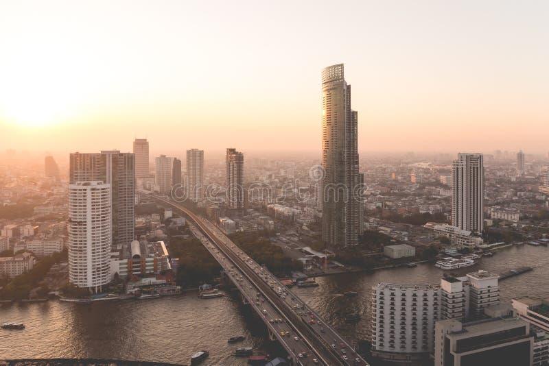 De stadsmening van Bangkok van hierboven, Thailand royalty-vrije stock fotografie