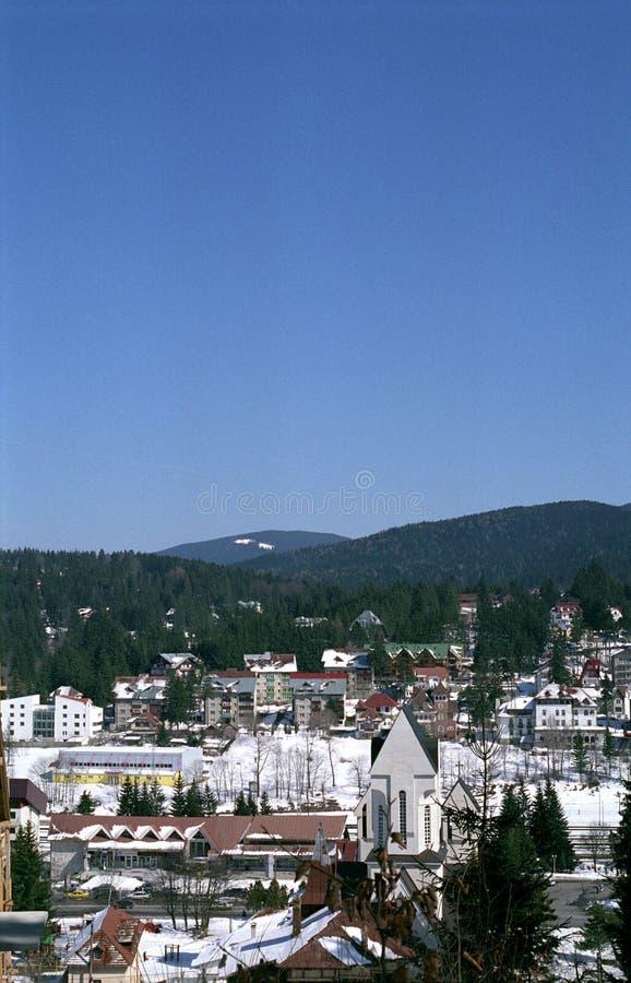 De stadsmening van de berg royalty-vrije stock fotografie