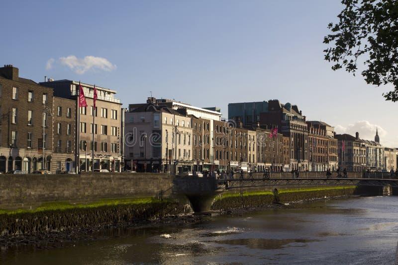 De stadsmening van Dublin stock foto