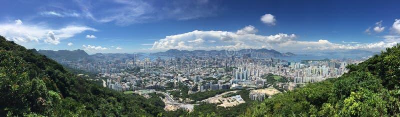 De stadsmening van Hongkong royalty-vrije stock afbeeldingen