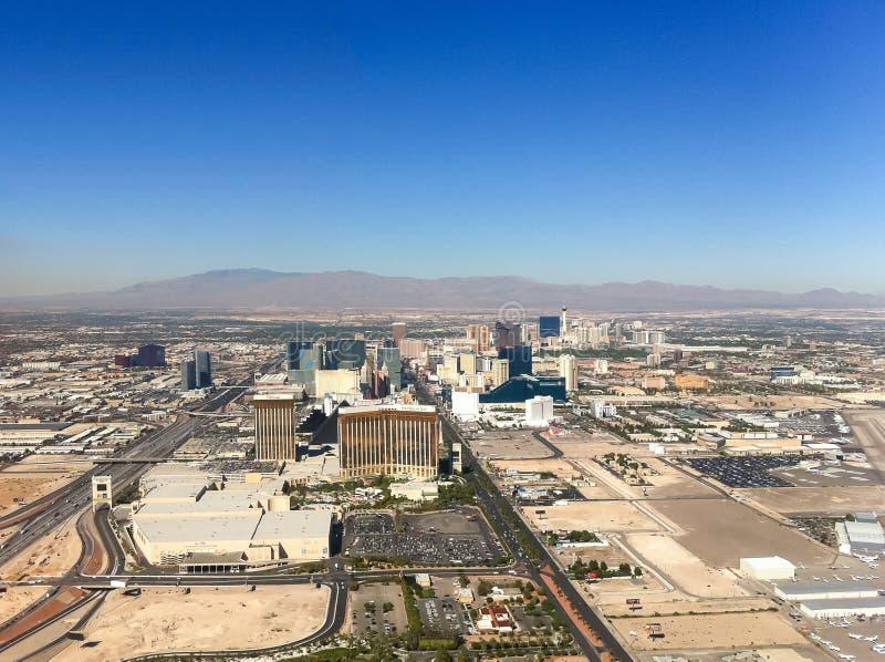 De stadsmening van Las Vegas van de lucht stock foto's