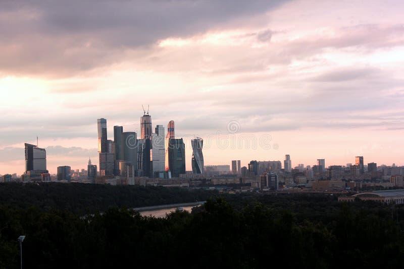 De stadsmening van Moskou stock fotografie