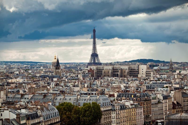 De stadsmening van Parijs stock afbeeldingen