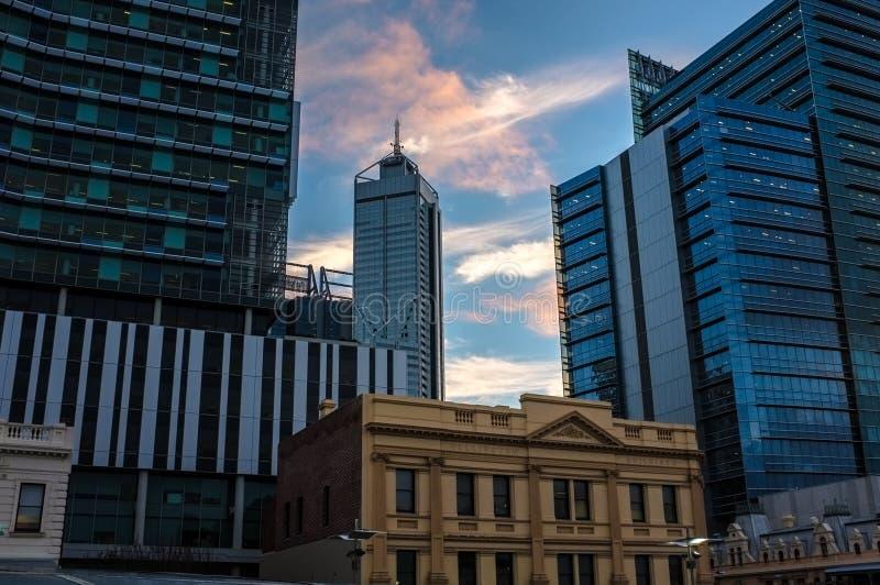 De stadsmening van Perth stock afbeeldingen