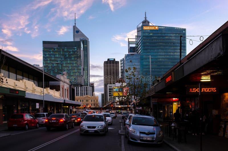 De stadsmening van Perth stock foto's