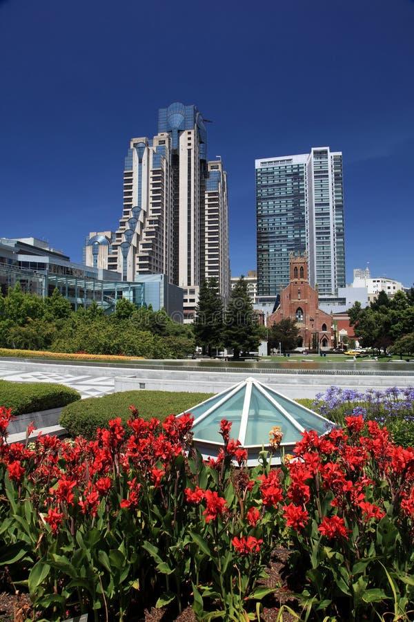 De stadsmening van San Francisco stock afbeelding