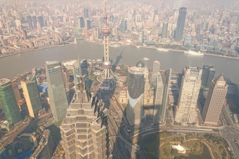 De Stadsmening van Shanghai China stock foto