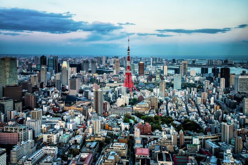 De stadsmening van Tokyo stock foto's