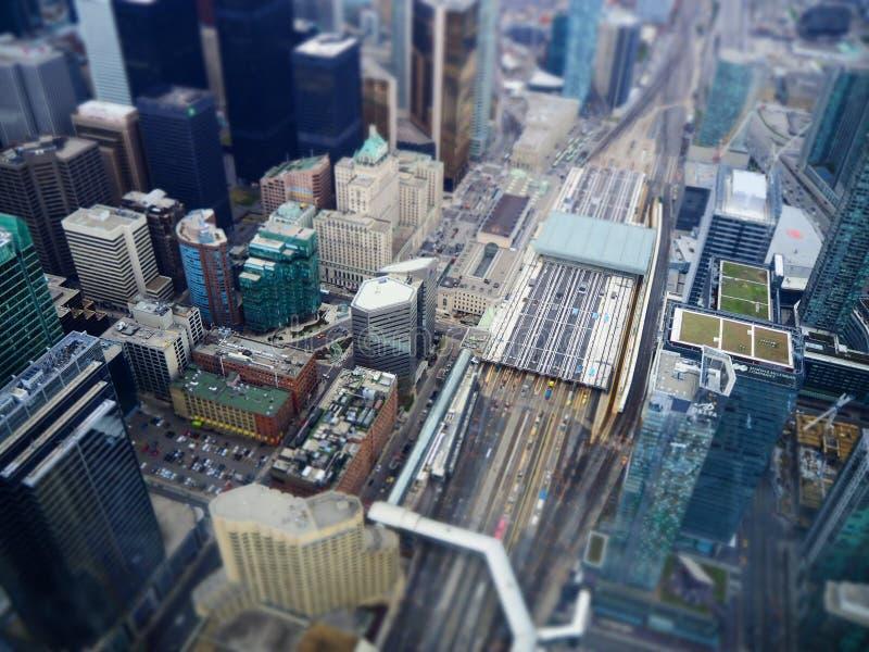 De stadsmening van Toronto van de schuine standverschuiving stock afbeelding