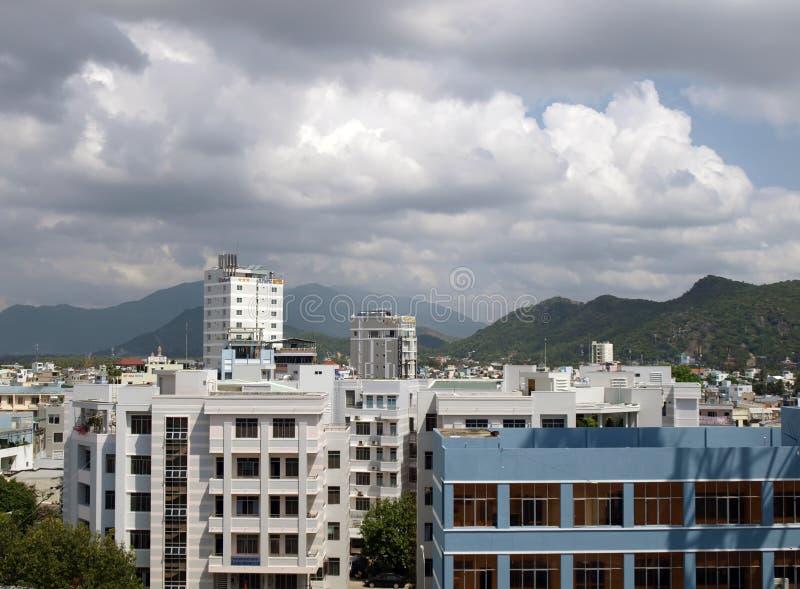 De stadsmening van Trang van Nha royalty-vrije stock afbeelding