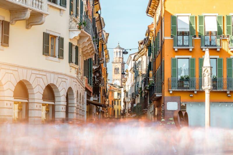 De stadsmening van Verona stock afbeelding