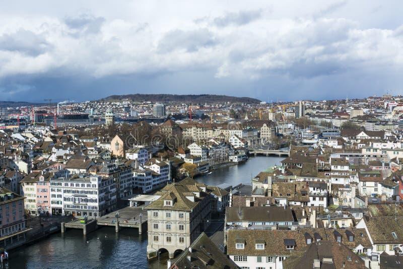 De stadsmening van Zürich royalty-vrije stock foto's
