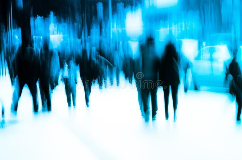 De stadsmensen overbevolken stock afbeeldingen