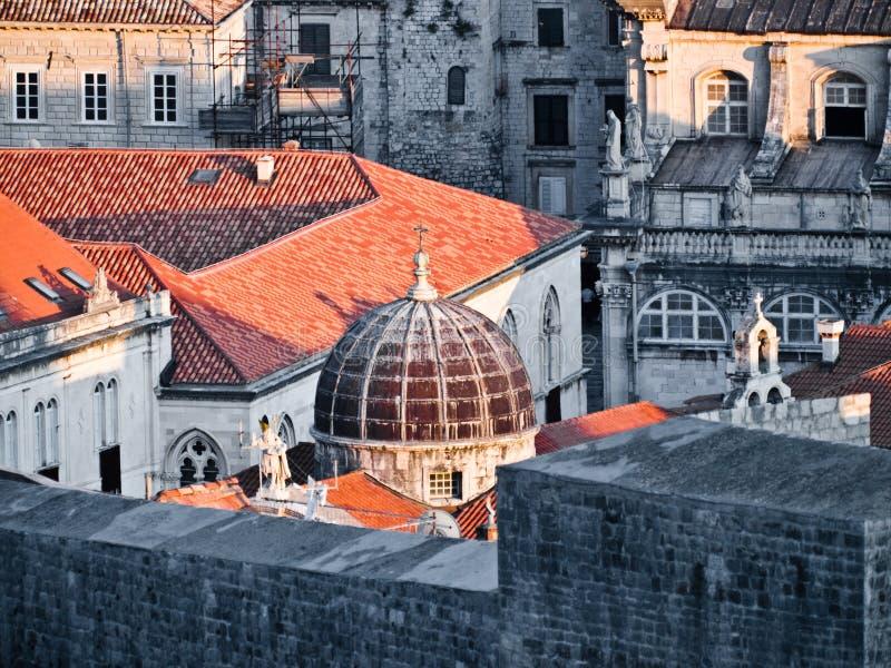 De stadsmuren van Dubrovnik royalty-vrije stock afbeelding