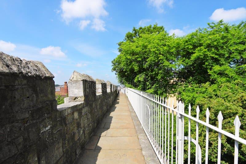 De stadsmuren van York, het UK royalty-vrije stock foto
