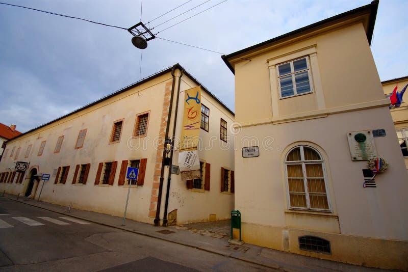 De Stadsmuseum van Zagreb royalty-vrije stock afbeelding