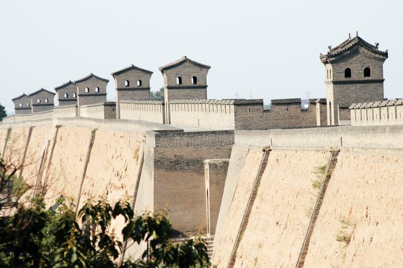 De stadsmuur van Pingyao royalty-vrije stock afbeelding