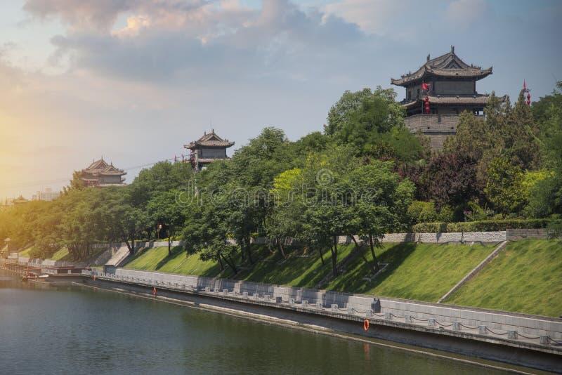 De stadsmuur van Xian royalty-vrije stock foto's